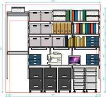 Elfa Component Shelving: Wifeu0027s Closet Office